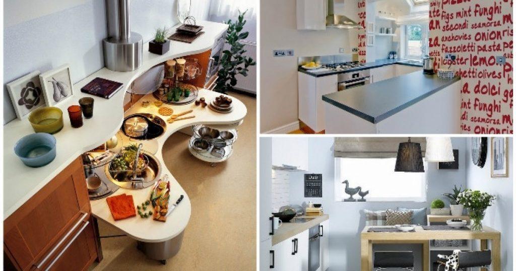 варианты кухонных гарнитуров для маленькой кухни фото