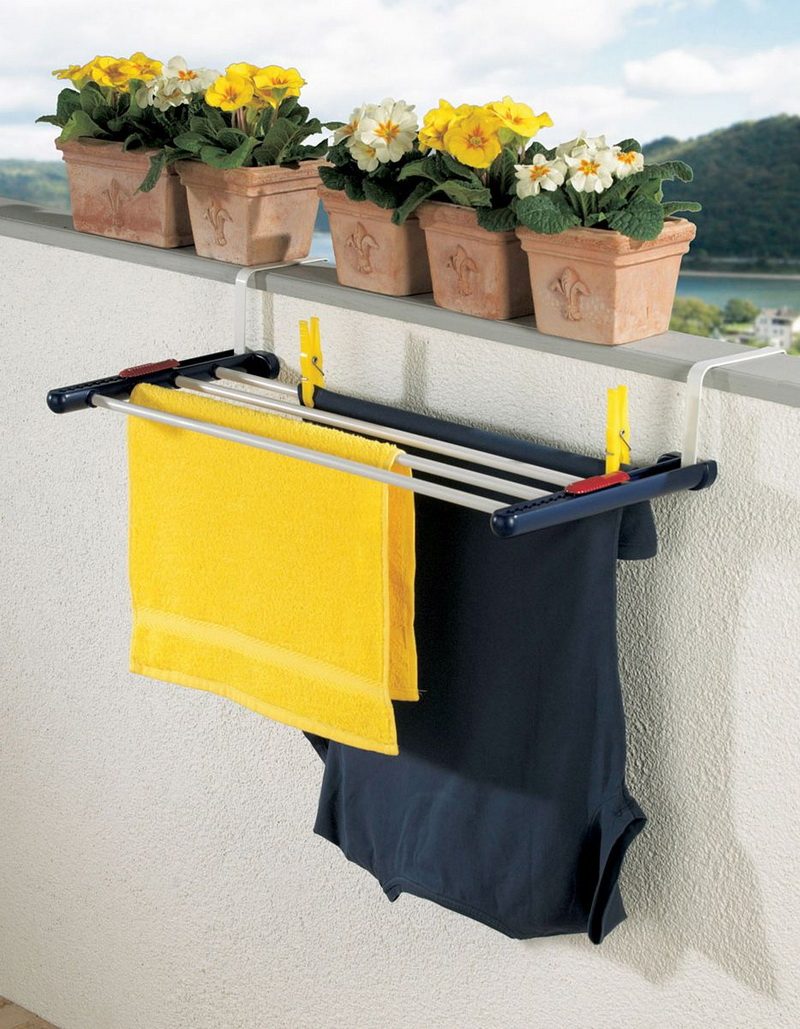 вешалка для белья на балкон потолочная
