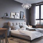 серые обои для спальни
