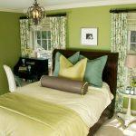 зеленые обои для спальни