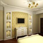 текстильные обои для спальни